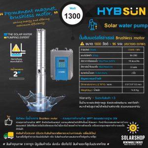 ปั๊มพลังงานเเสงอาทิตย์ 1300วัตต์ ลงบ่อ4นิ้ว ราคาถูก